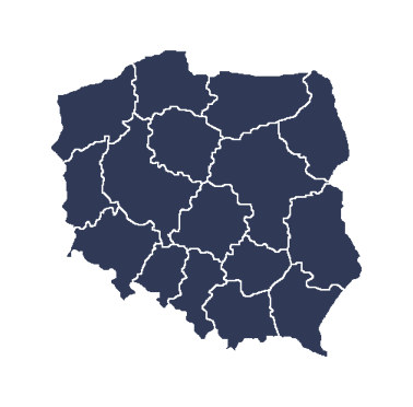mapa polski - obszar działania kancelari